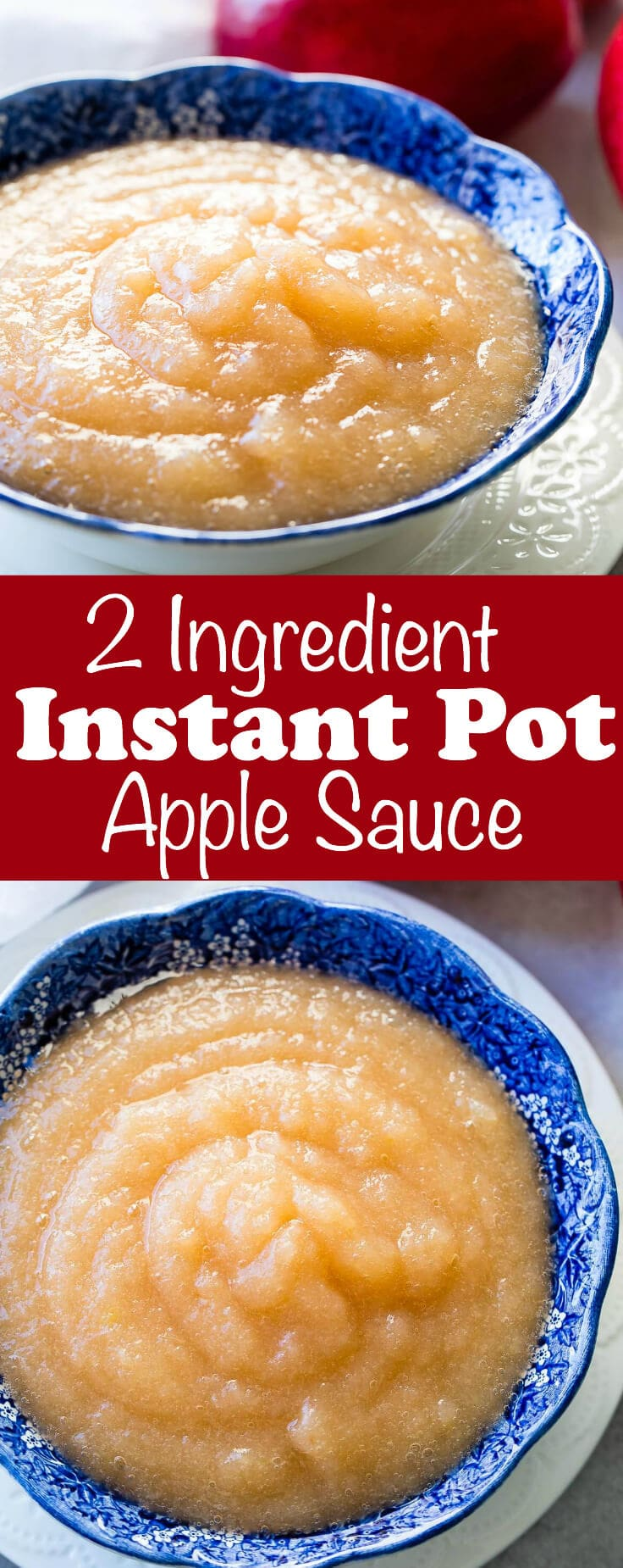 A while back I shared our 2 ingredient instant pot applesauce recipe on an instagram story and now I'm sharing it here along with how to can applesauce.