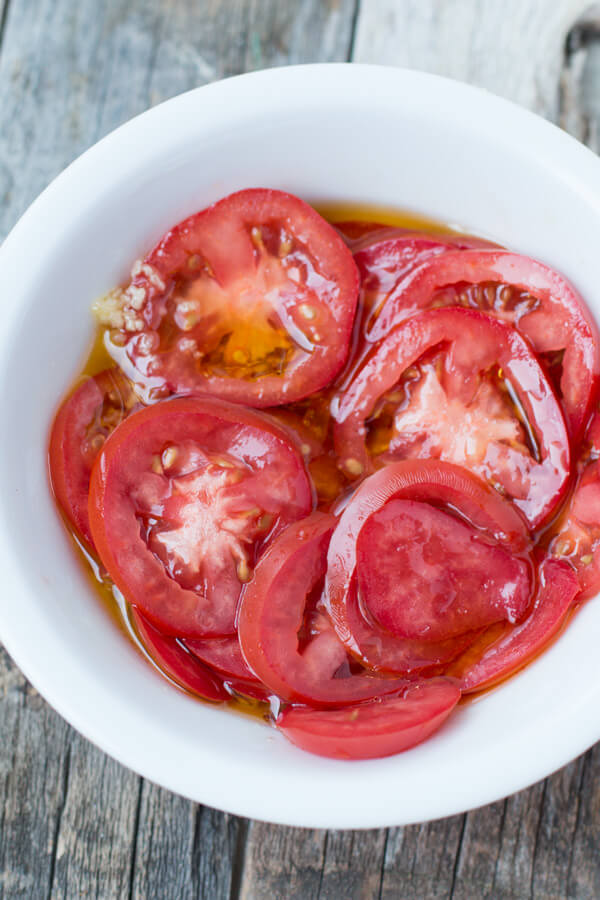 try marinated tomatoes on your next pizza. So good! ohsweetbasil.com