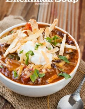 Loving this enchilada soup lately! Ohsweetbasil.com