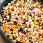 Grilled Corn Salad with Black Beans and Rice