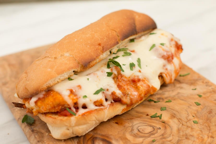 chicken parmesan subs ohsweetbasil.com