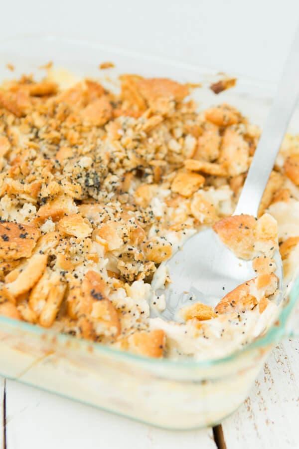 Poppy Seed Chicken Casserole ohsweetbasil.com