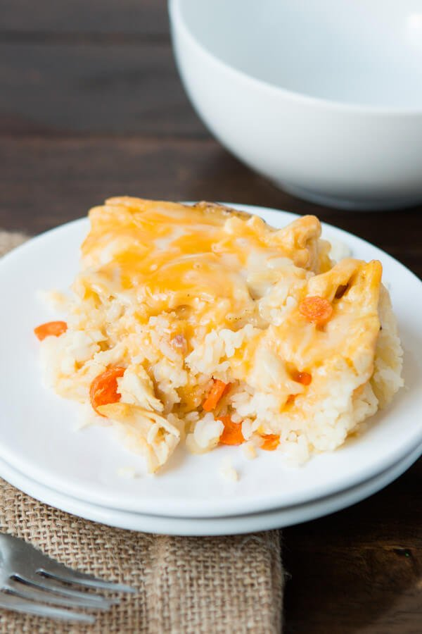 quick and easy chicken and rice casserole recipe ohsweetbasil.com