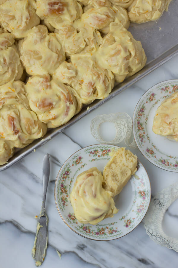 Made from our famous Potato #rolls these orange rolls are a sure bet for crowd pleasing deliciousness! ohsweetbasil.com-5