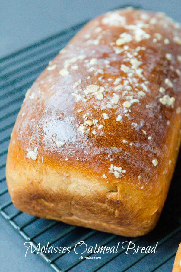 Molasses Oatmeal Bread, or in other words, the bread that will change your life. ohsweetbasil.com