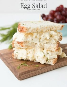 The absolute BEST egg salad. I seriously have not found a better recipe. ohsweetbasil.com