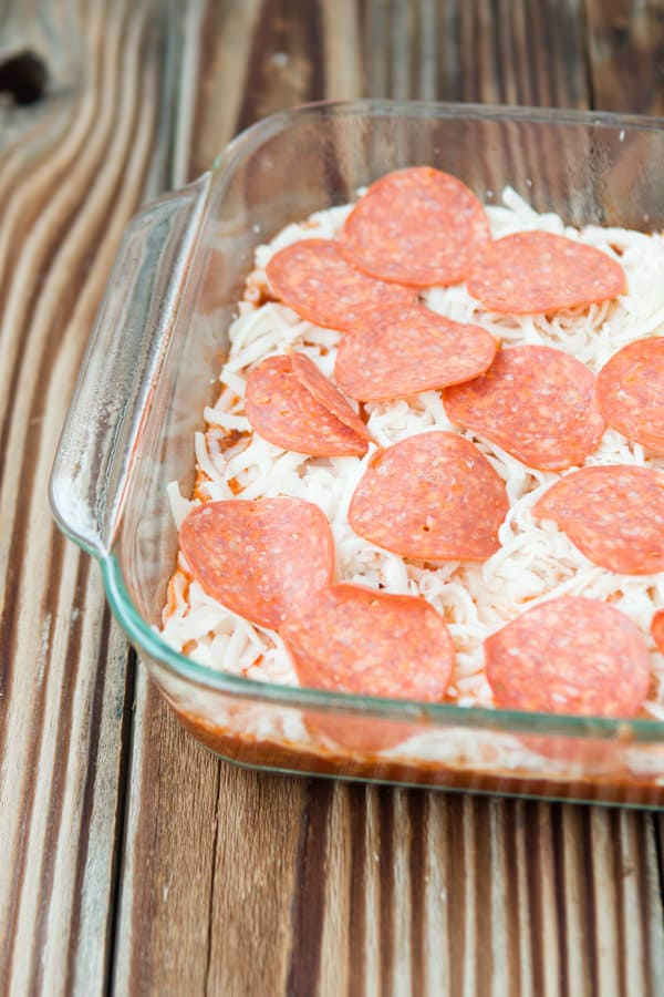 Upside Down Pizza Casserole ohsweetbasil.com