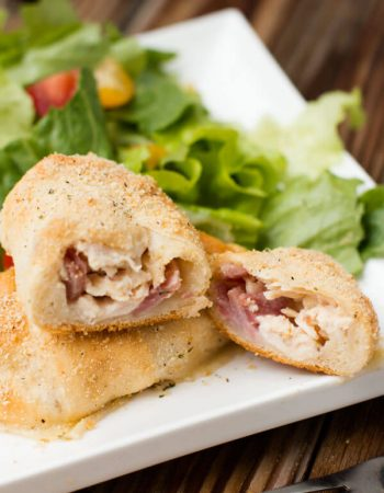 Easy chicken cordon bleu bundles ohsweetbasil.com