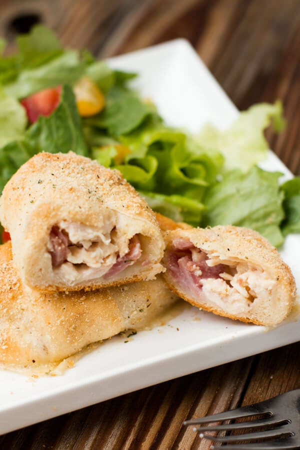 Easy chicken cordon bleu bundles ohsweetbasil.com