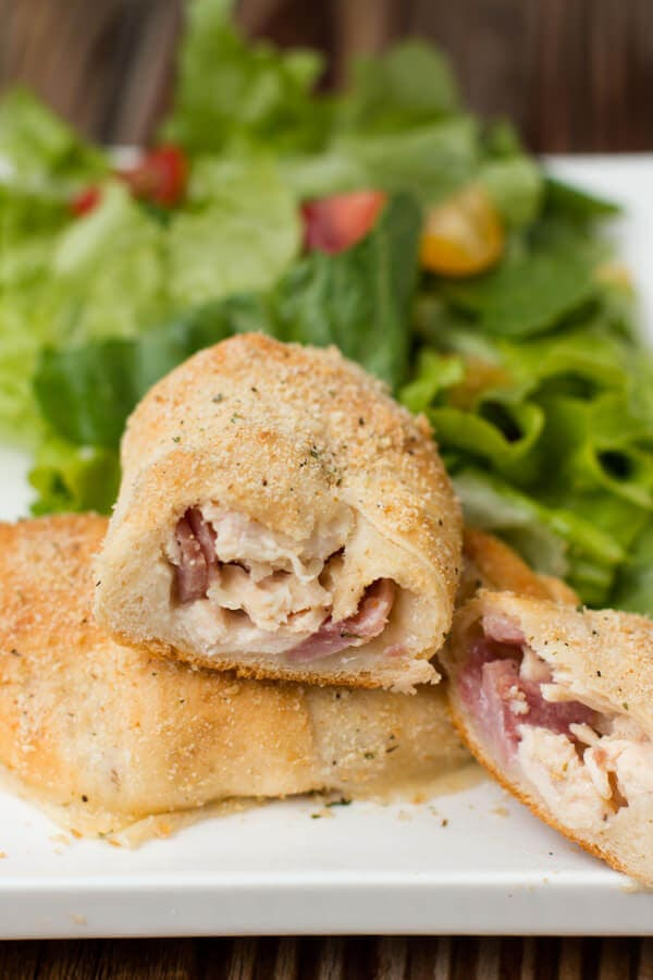 delicious chicken cordon bleu bundles ohsweetbasil.com