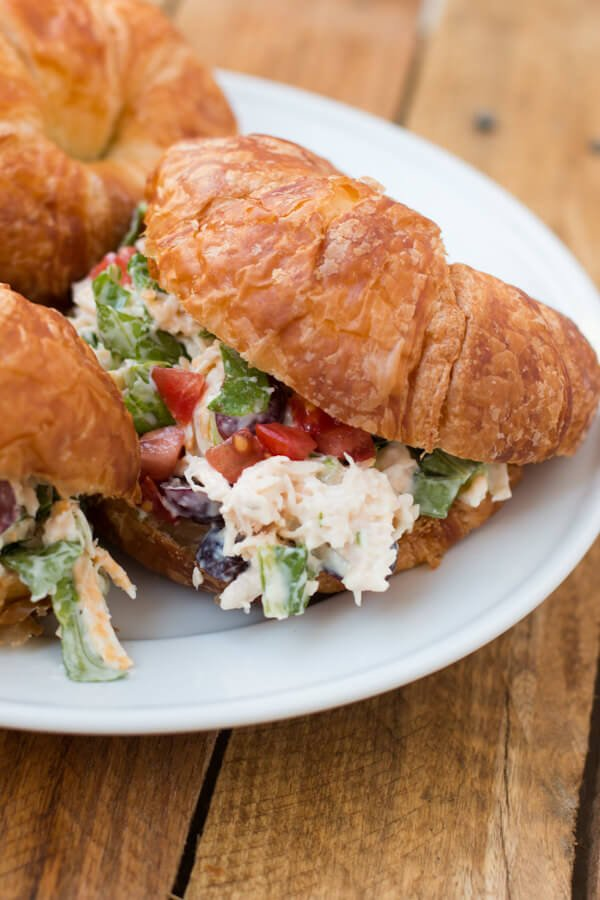 The BEST chicken salad recipe EVER! ohsweetbasil.com