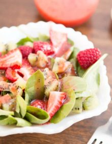 strawberry kiwi salad ohsweetbasil.com