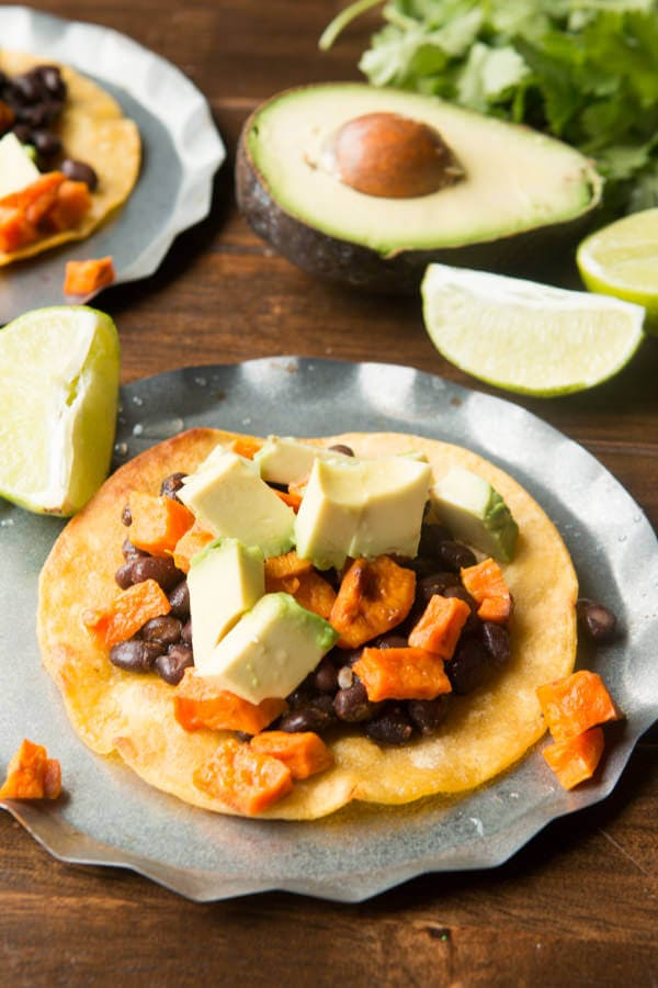 Easy, quick and delicious vegetarian tostadas ohsweetbasil.com