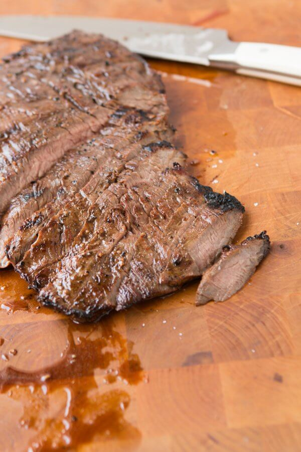 Balsamic Marinated Flank Steak- our favorite marinade! ohsweetbasil.com