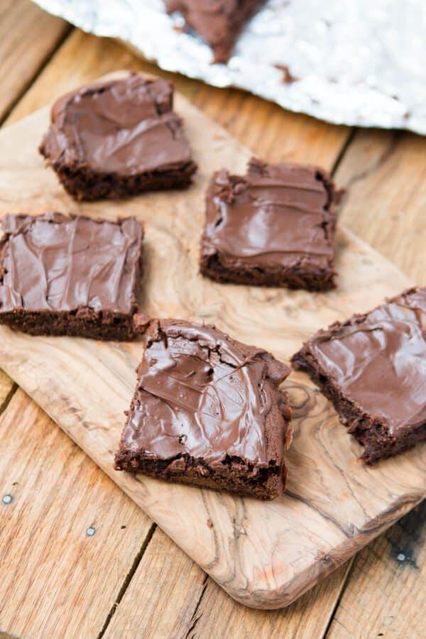 caramel nutella brownies ohsweetbasil.com