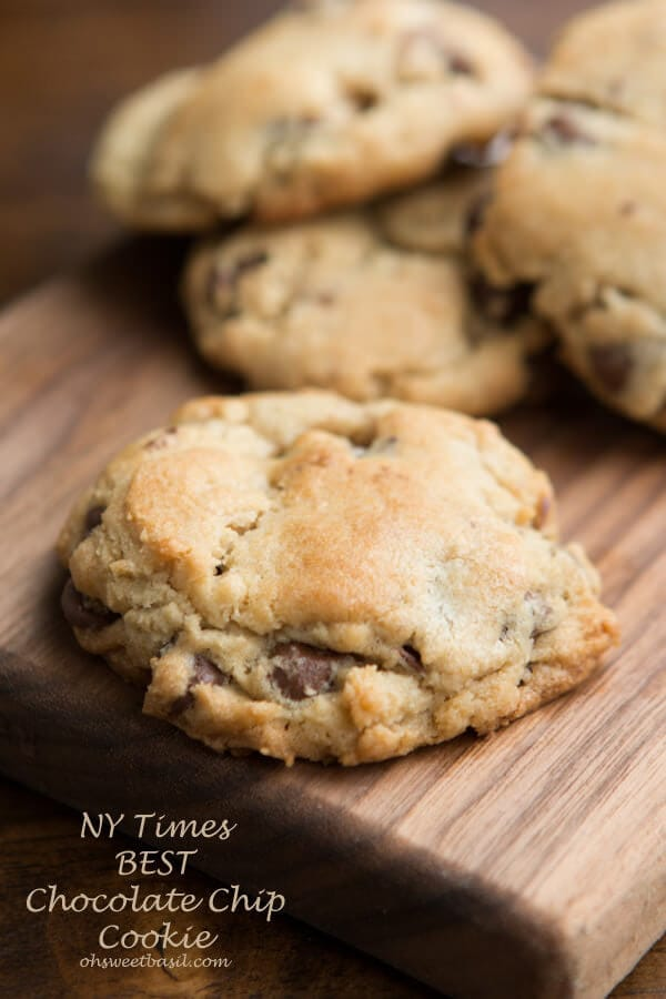 The NY Times rated this the BEST chocolate chip cookie recipe ever! ohsweetbasil.com