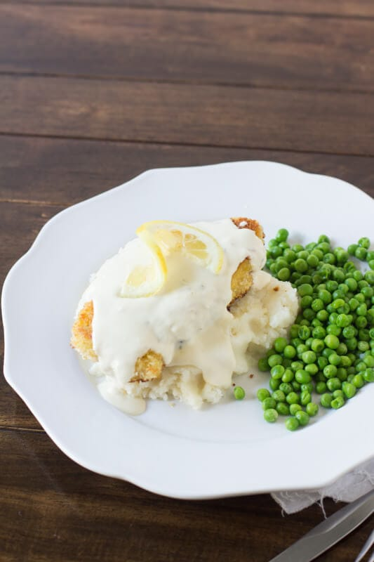 Panko Crusted Chicken with Lemon Cream sauce #copycat #cheesecakefactory ohsweetbasil.com-2