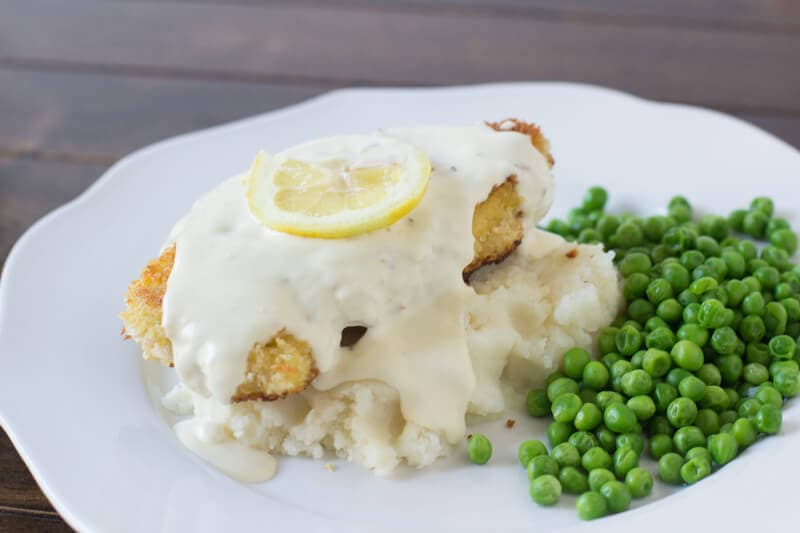 Panko Crusted Chicken with Lemon Cream sauce #copycat #cheesecakefactory ohsweetbasil.com-5