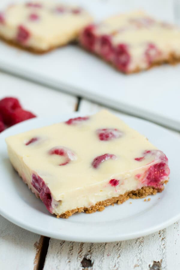 Lemon Raspberry Bars | Oh Sweet Basil