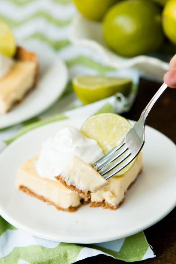 The best Brazilian Key Lime Bars ohsweetbasil.com
