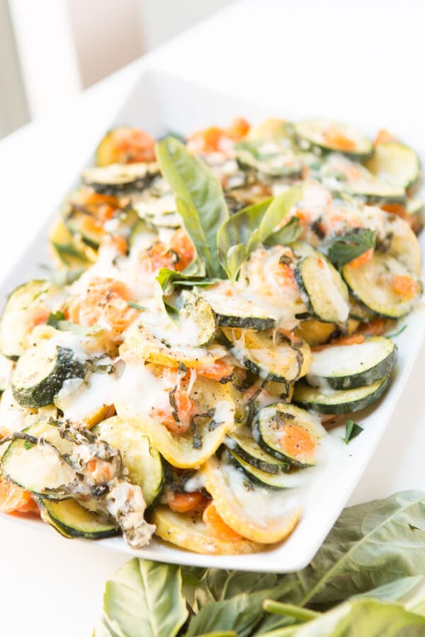 We had these last night and they were amazing! Roasted cheesy basil vegetables! ohsweetbasil.com