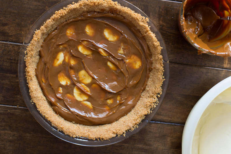 This creamy, fluffy, delicious Dulce De Leche Banana Cream Pie is probably one of our absolute most favorite pie recipes ever.