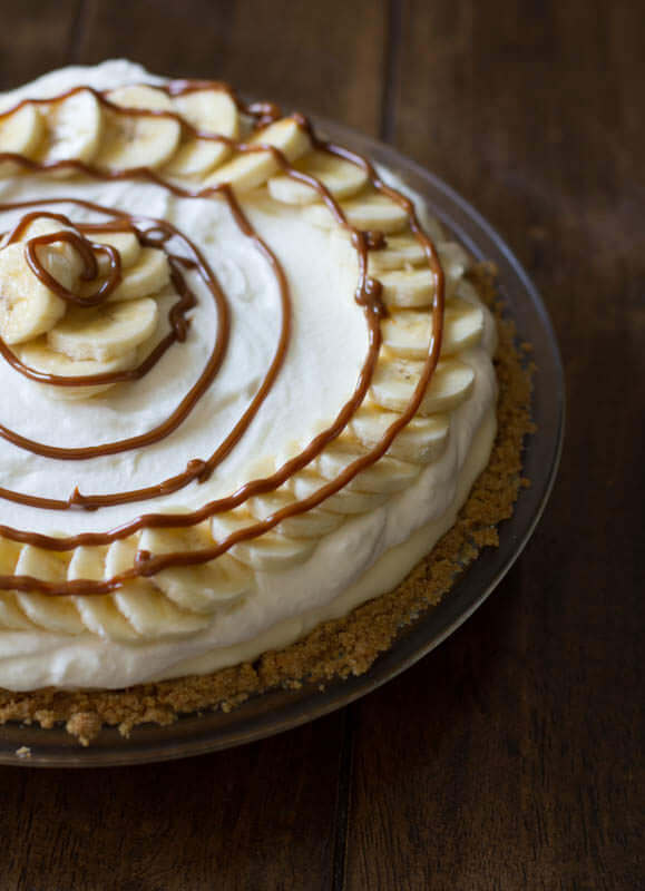 Dulce De Leche Banana Cream #Pie. OH. MY. SWEET. DELICIOUSNESS. ohsweetbasil.com_-4