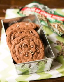 andes mint cookies instead of chocolate chips! These are so good! ohsweetbasil.com