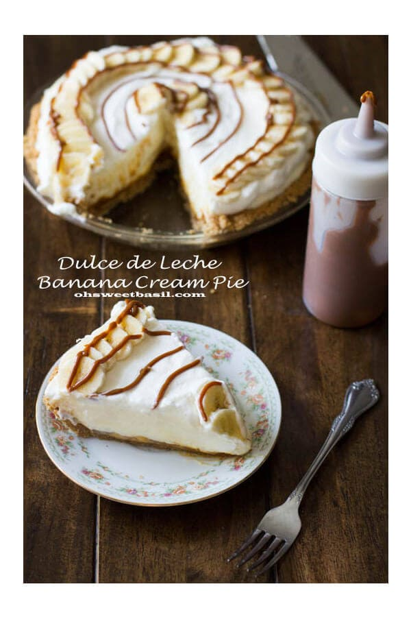 dulce de leche banana cream pie for a perfect dessert ohsweetbasil.com