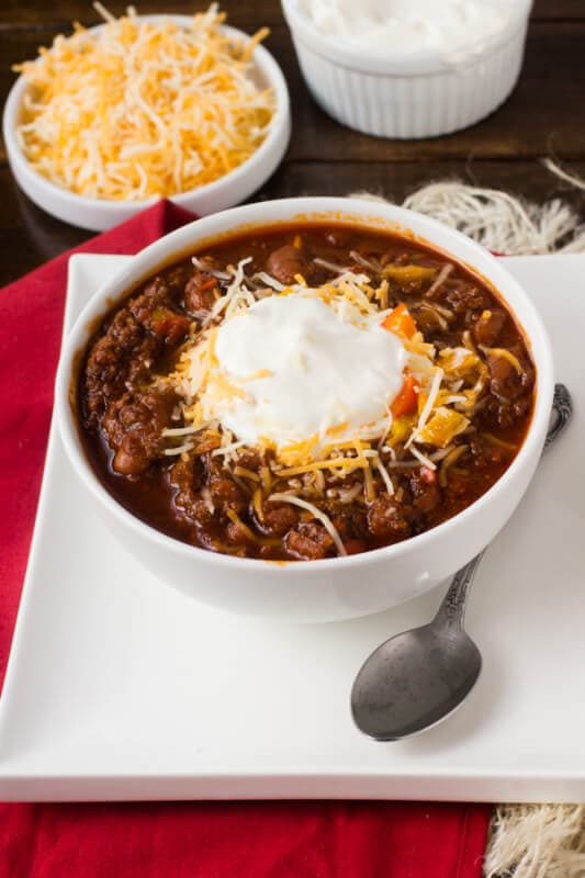 This #chili is my husband's favorite, but there are two secret ingredients that really make it delicious! Dr. Pepper and Chocolate Chili ohsweetbasil.com