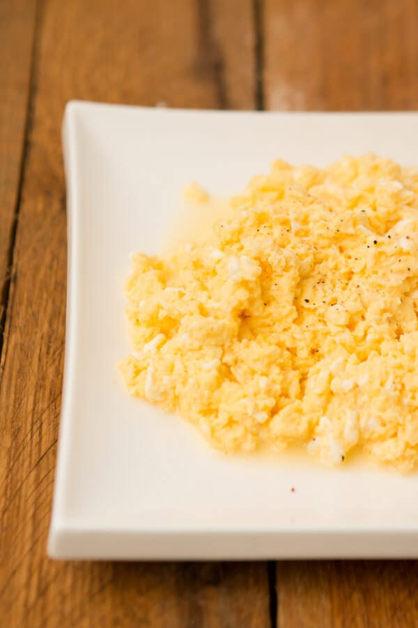 how to make perfectly light and fluffy scrambled eggs ohsweetbasil.com