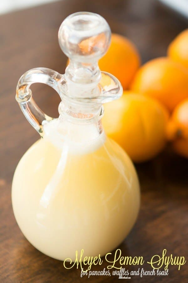 Sweet lemon syrup made with meyer lemons that's perfect for pancakes, waffles or french toast ohsweetbasil.com
