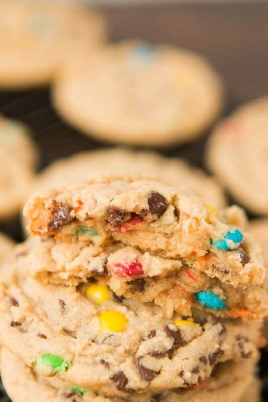 Peanut Butter M&M Cookies, pretty much the best recipe ever ohsweetbasil.com