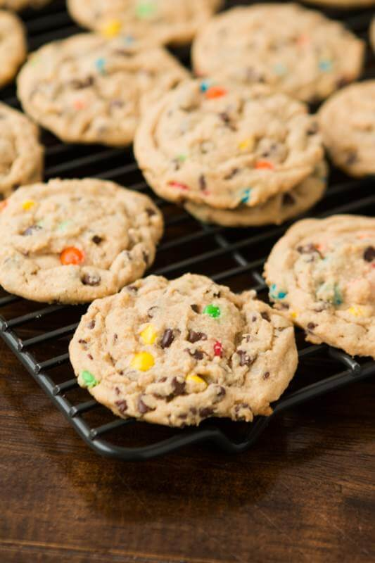 Peanut Butter Chocolate Chip Cookies ohsweetbasil.com