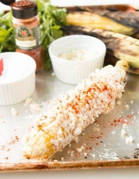 Mexican Street Corn is one of the best things you can make on the grill, you have to try it! ohsweetbasil.com