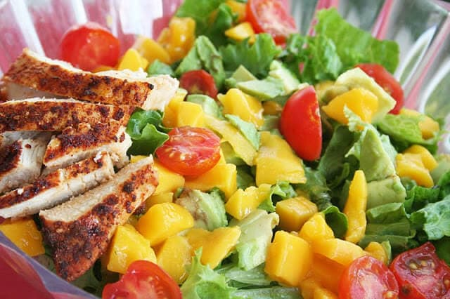 Chicken-Mango Salad with Cilantro vinaigrette
