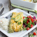Avocado Steak Enchiladas