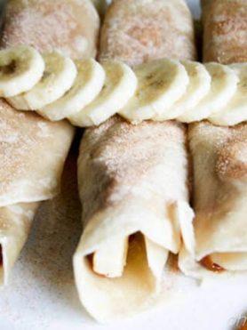Banana Foster Cinnamon Crisp ohsweetbasil.com