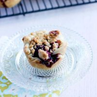 This mini blackberry pies recipe is not only awesome in size, but the flavor is one of my favorites. There's a slight hint of cinnamon that is delicious