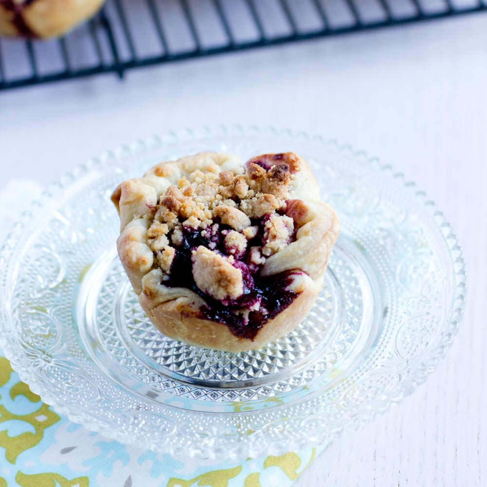 mini blackberry pies