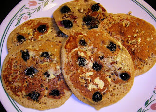 Blueberry Pecan Pancakes by Jennifer ohsweetbasil.com