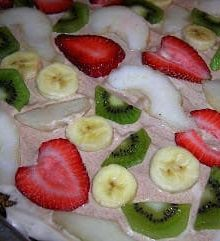 Breakfast Fruit Pizza By: Jennifer ohsweetbasil.com