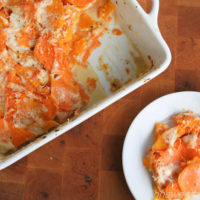Sweet Potato and Butternut Squash Gratin ohsweetbasil.com