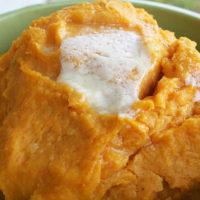 Butternut Squash and White Sweet Potato Mash ohsweetbasil.com