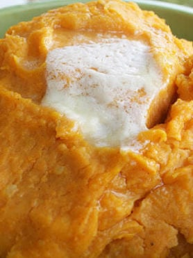 Butternut Squash and White Sweet Potato Mash ohsweetbasil.com
