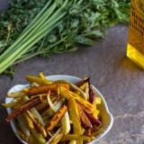 Roasted Carrot Fries ohsweetbasil.com