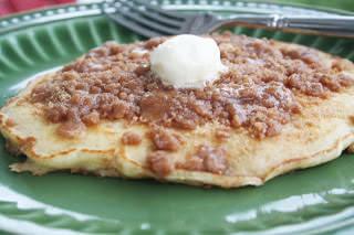 Cinnamon Streusal Pancakes