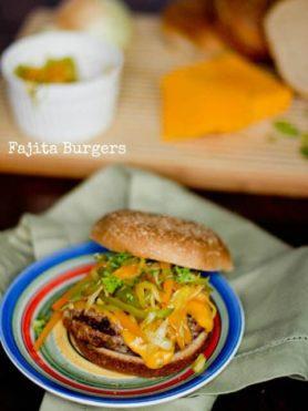Fajita Burgers ohsweetbasil.com