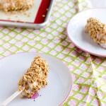 Frozen Yogurt and Granola Banana Pops