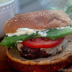 Garlic Basil Caprese Burger